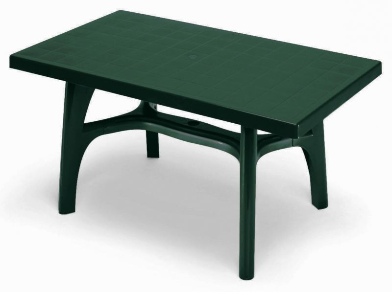 SCAB Rettango Rectangular Resin Table 140cm x 80cm in Forest Green