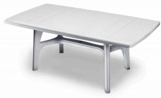 SCAB President Rectangular Resin Table 150cm x 90cm in White