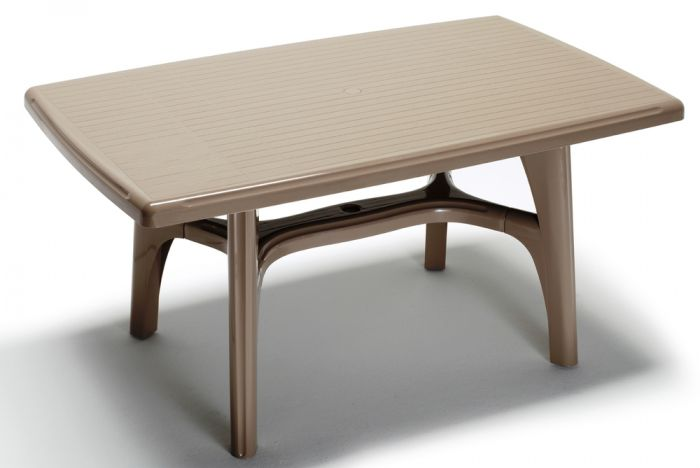 SCAB President Rectangular Resin Table 150cm x 90cm in Dove Grey