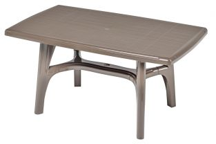 SCAB President Rectangular Resin Table 150cm x 90cm in Cocoa