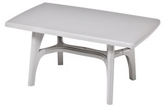 SCAB President Rectangular Resin Table 150cm x 90cm in Light Grey