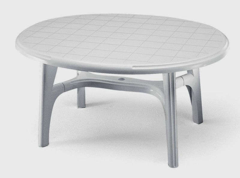 SCAB Ovolone Oval Resin Table 150cm x 113cm in White
