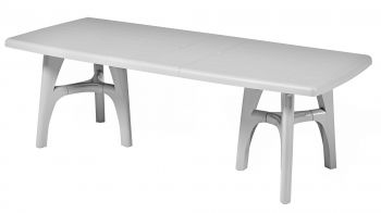 SCAB President Tris Rectangular Extending Resin Table in Light Grey  170cm - 220cm x 95cm
