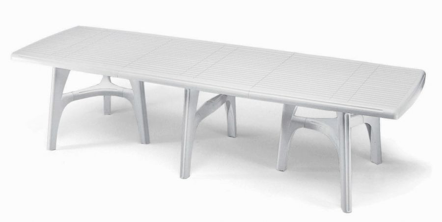 SCAB President Rectangular Resin Table in White 300cm x 95cm