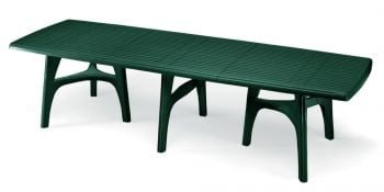 SCAB President Rectangular Resin Table in Forest Green  300cm x 95cm