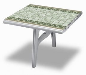 SCAB President 300cm Table Extension in White with Tile Deco - 100cm x 95cm