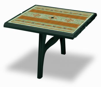 SCAB President 300cm Table Extension in Forest Green with Mosaic Deco - 100cm x 95cm