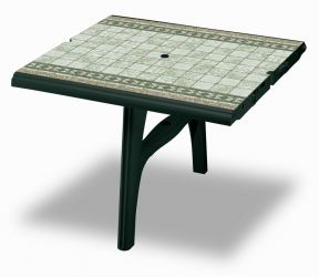 SCAB President 300cm Table Extension in Forest Green with Tile Deco- 100cm x 95cm