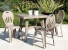 SCAB Two Seater Daddy Resin Bistro Set in Dove Grey