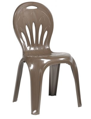 SCAB Two Seater Daddy Resin Bistro Set in Cocoa