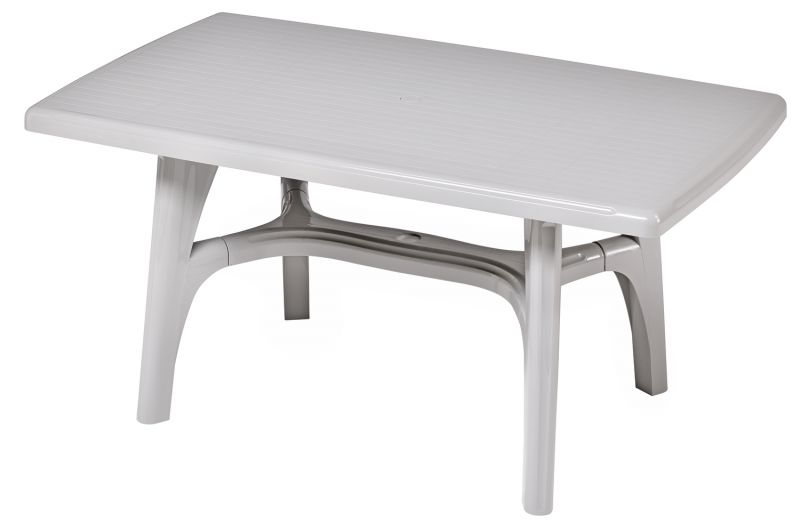 SCAB Six Seater President Rectangular Dining Set in Light Grey