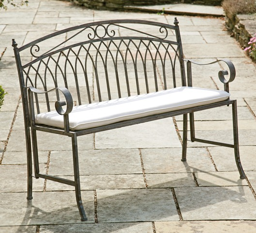 Versailles 1.18m (3ft 10�ins) Steel Folding Bench