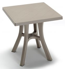 SCAB Daddy Square Resin Bistro Table in Dove Grey 70cm