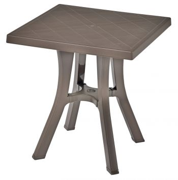 SCAB Daddy Square Resin Bistro Table in Cocoa 70cm