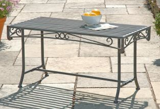 Versailles Steel Coffee Table - Grey