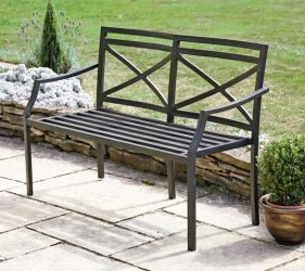Provence 1.2m (3ft 11¼ins) Steel Bench