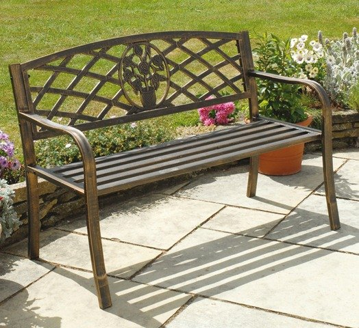 Rose Antiqua 1.14m (3ft 9ins) Cast Iron Bench with Insert