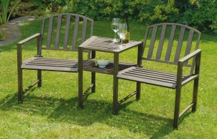 Antiqua Steel Garden Companion/Love Seat