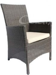 Quattro Brown Wicker Livorno Garden Chair with Cushion