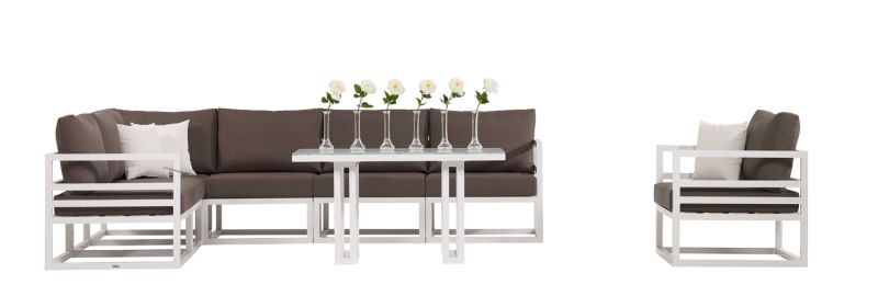 Fabri High Dining Corner Sofa Set