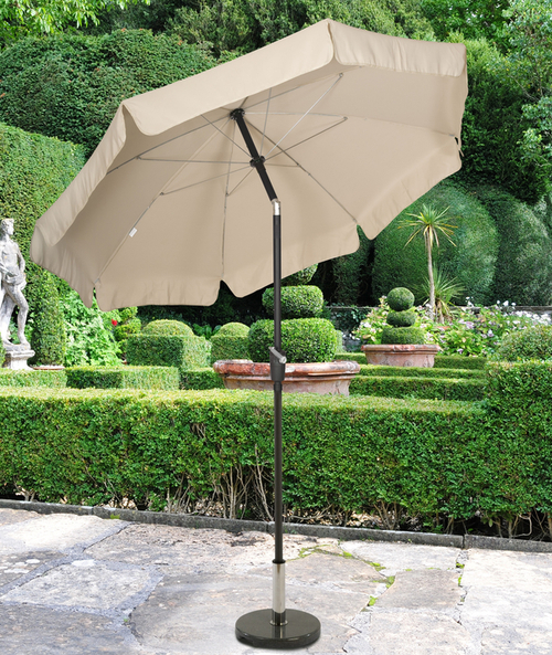 Norfolk Natural Parasol 3.0m with valance