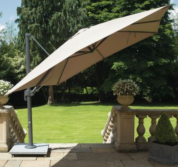 Palermo Cantilever Parasol 3x3m Square in Taupe