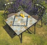 Amalfi 71cm Square Stone Garden Bistro Table