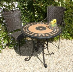 Cherbourg 76cm Round Ceramic Ornamental Garden Table