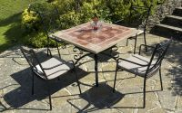 Costanta 100cm Square Stone Garden Table