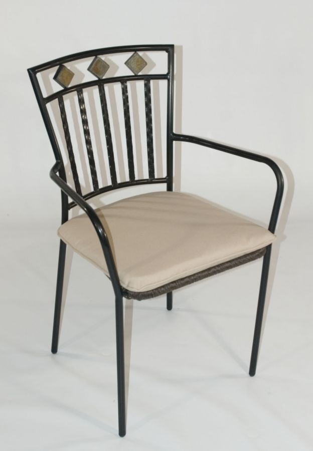 Malaga Mocha Brown Wicker Garden Armchair