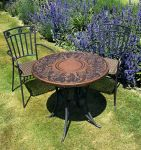 Bordeaux 75cm Round Stone Garden Table