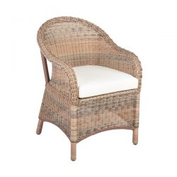 "Cozy Bay ""Sicilia"" Armchair with Seat Pad Cushion"