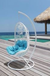 "Cozy Bay ""Apollo"" White Hanging Chair"
