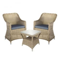 Oseasons Hampton Tea for Two Set with Flat top Chairs