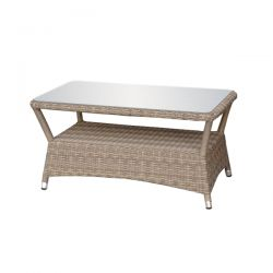 Oseasons Eden Rattan Coffee Table with Glass Top