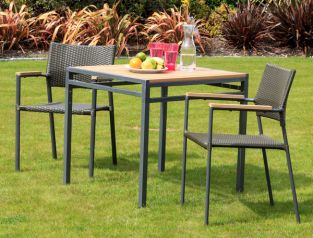 Sol Bistro Americano Rattan Furniture Brown Restaurant Bistro Stackable Set