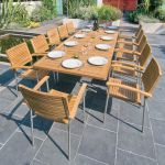 Alexander Rose Avant 120cm Teak Garden Table