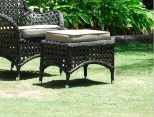 Alexander Rose Manila Garden Footstool with Cushion