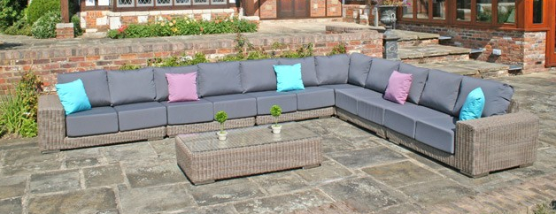Kingston Modular Sofa Set with Waterproof Cushions - Set P