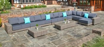 Kingston Modular Sofa Set with Waterproof Cushions - Set Q