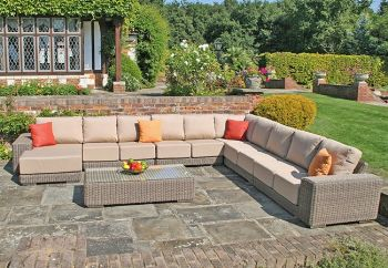 Kingston Modular Sofa Set with Waterproof Cushions - Set R