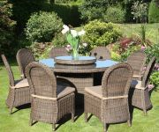 150cm Marlow Round Table & 8 Marlow Dining Chairs