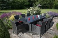 Lincoln Rectangular Table - 200cm & 8 Lincoln Dining Armchairs- Black