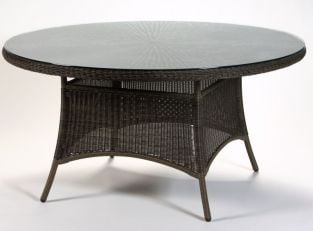 Cheltenham 150cm Round Brown Rattan Garden Dining Table