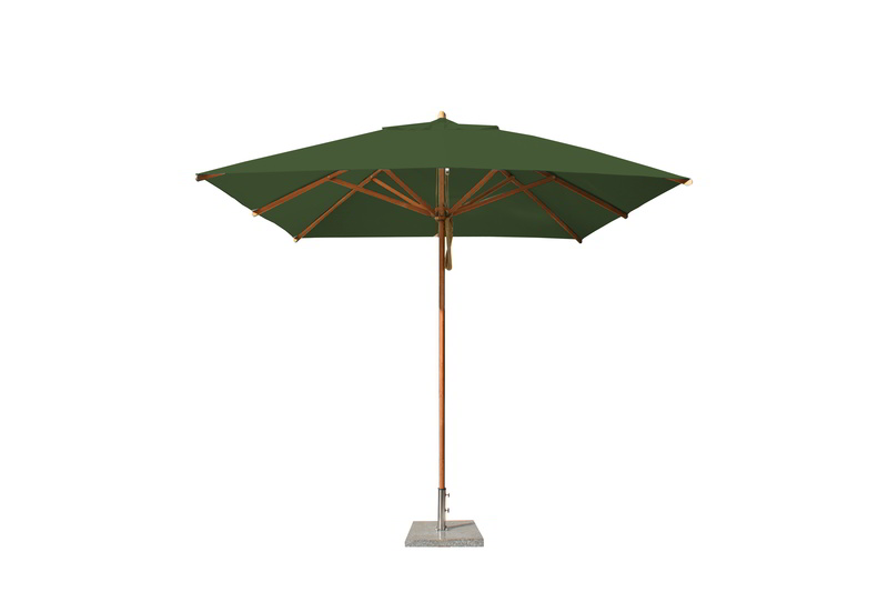 Levante 2.6m Forest Green Square Parasol