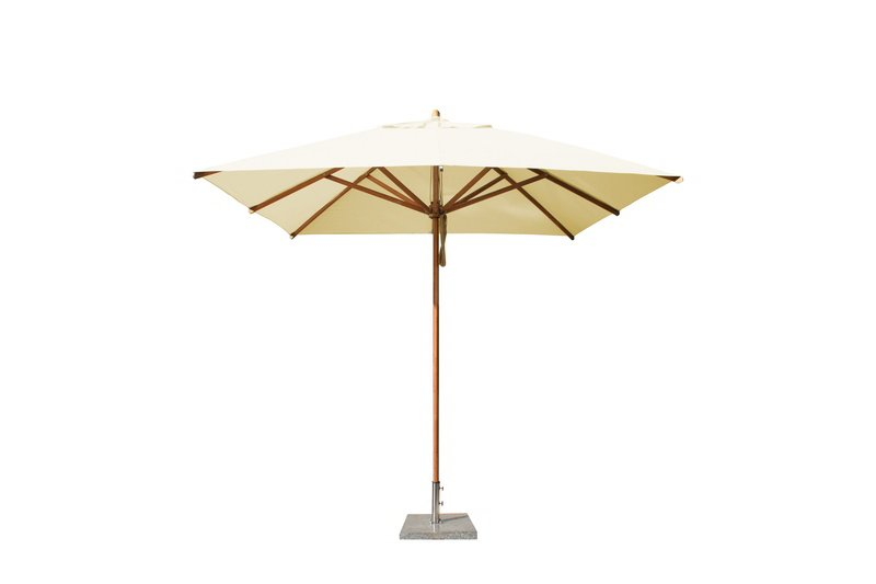 Levante 2.6m Natural Square Parasol