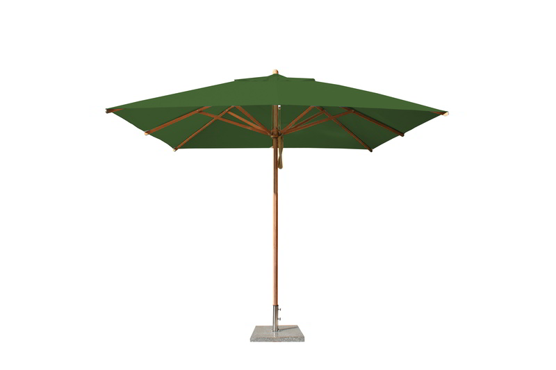 Levante 3.0m Forest Green Square Parasol