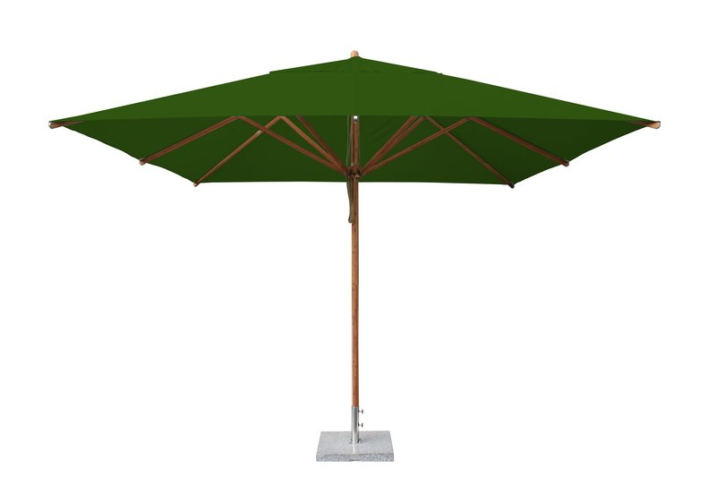 Levante 3.4m Forest Green Square Parasol