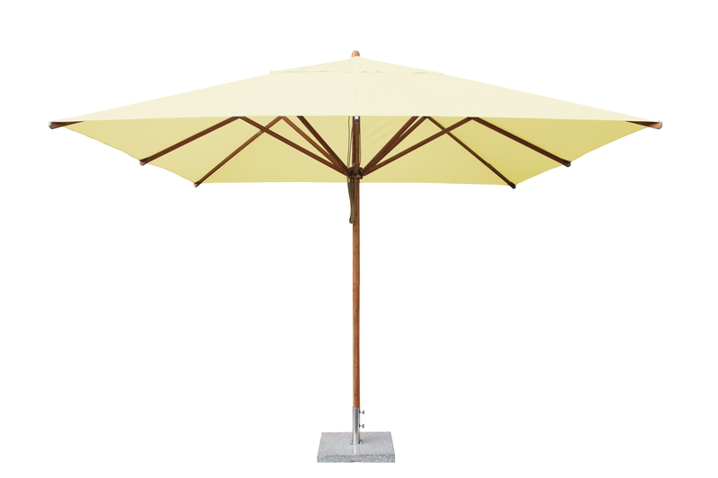 Levante 3.4m Natural Square Parasol