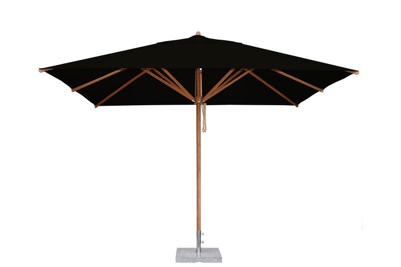Levante 2.5 x 3.5m Black Rectangular Parasol